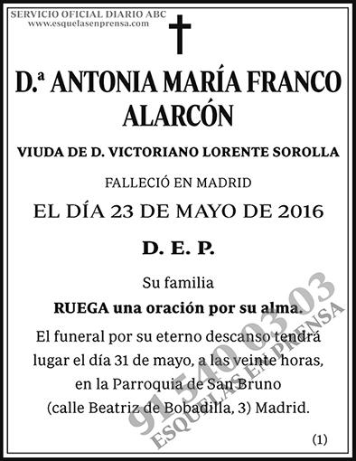 Antonia María Franco Alarcón